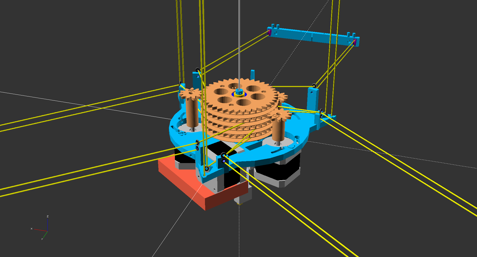 hangprinter assembly