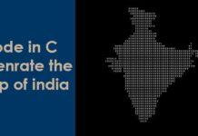 Create India Map Using C Program