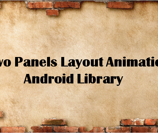 Two Panels Layout Animation Android Library