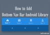 Add Bottom Nav Bar Android Library