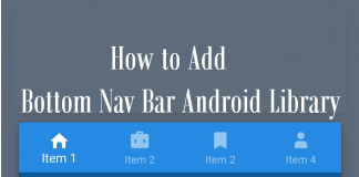 Add Bottom Nav Bar Android Library