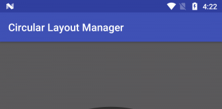 How to add Circular Layout Manager