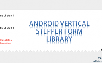 Vertical Stepper Form Library