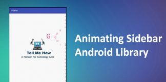 Animating Sidebar Android