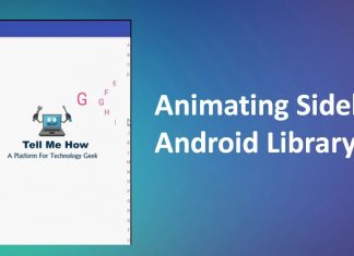 Animating Sidebar Android