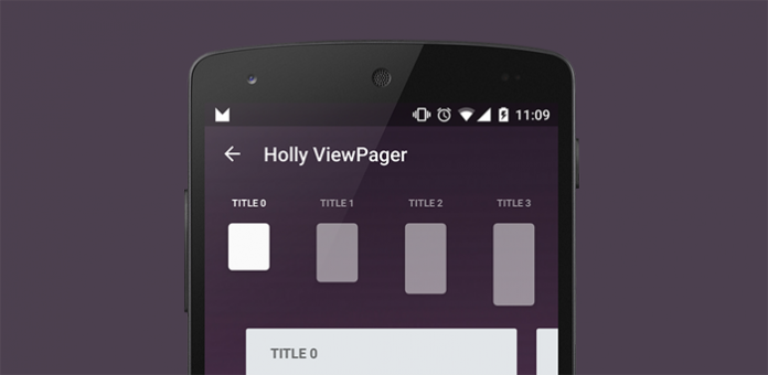 HollyViewPager - Android Navigation Animation Library