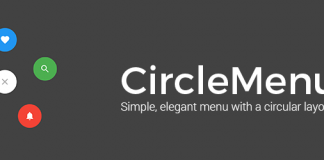 How to use Android CircleMenu library