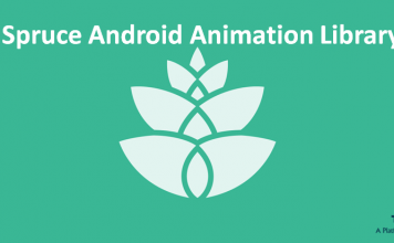How to use Android Spruce Animation Library