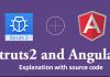 Struts2 AngularJS Insert Operation Example