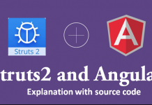 Struts2 AngularJS Insert Operation Example