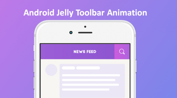 Android Jelly Toolbar Animation