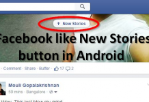 Add Facebook like New Stories button in Android