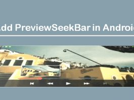 How to Add PreviewSeekBar in Android