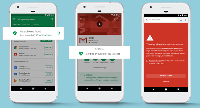 Step to use Google Play Protect