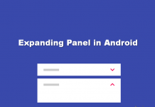 How to Add Expanding Panel in Android