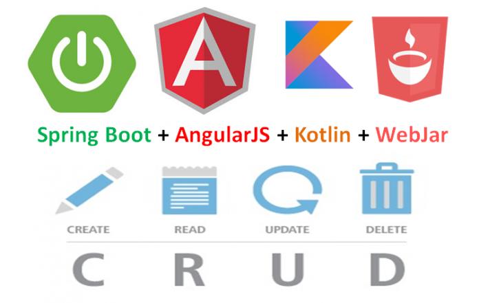 Spring Boot + Kotlin + AngularJS + WebJar CRUD Example
