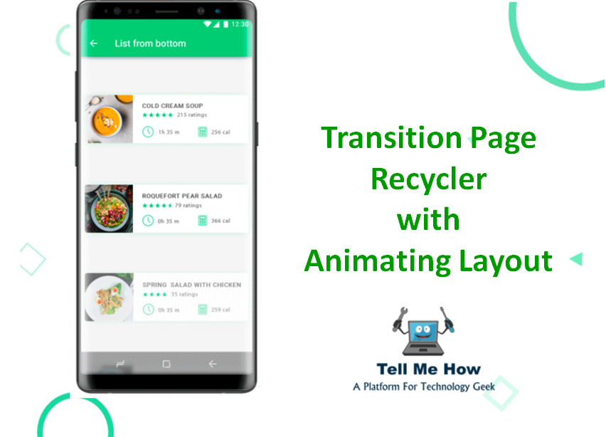 How to Transition Page Recycler using Animated Recycler View