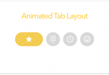 Animated Tab Layout in Andrid