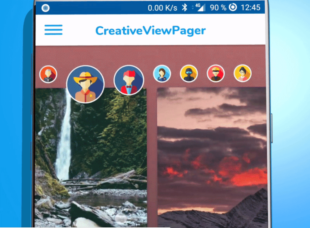 Creative View Pager Android Animation Library » Tell Me How - A