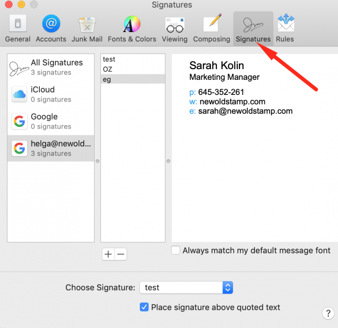 HTML Email Signature To Apple Mail