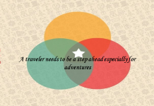 A traveler needs to be a step ahead especially for adventures