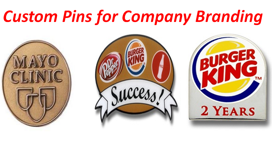 Custom Pins for Company Branding.